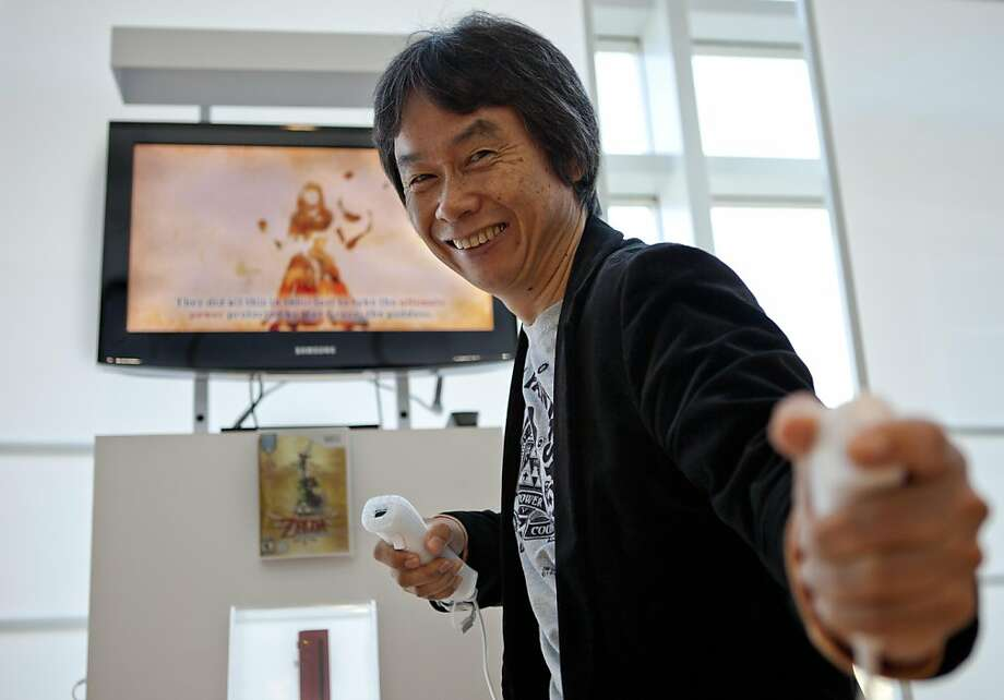Video game developer Shigeru Miyamoto, creator of Mario Brothers and Zelda, visits Nintendo's Sales and Marketing offices on Thursday, December 8, 2011 in Redwood City, Calif.  Miyamoto refutes claims that he has intentions of stepping down from his present position within Nintendo. Photo: John Sebastian Russo, Special To The Chronicle