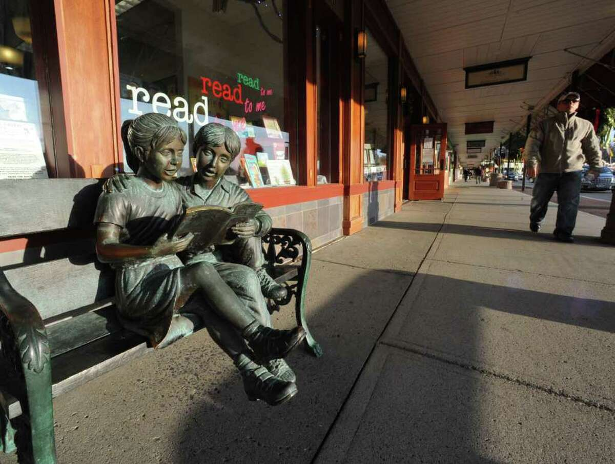 Statue outside of the Book House in Stuyvesant Plaza on Friday, Dec. 9, 2011 in Guilderland, N.Y. (Lori Van Buren / Times Union)