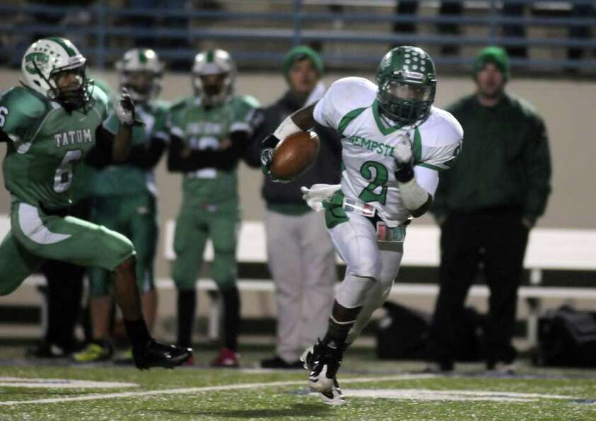 Hempstead 21, Tatum 14Hempstead junior running back Michael Wolfe (2) breaks