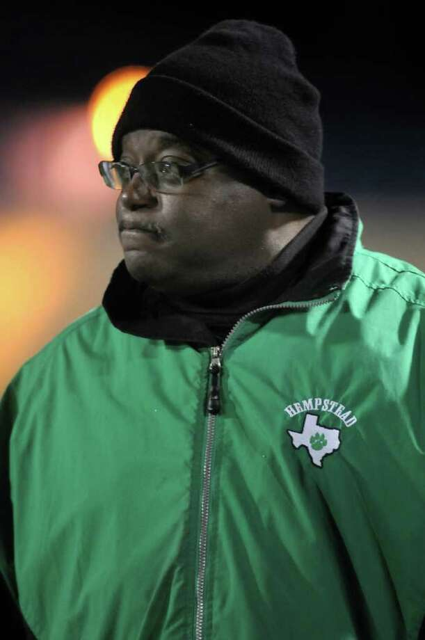 Hempstead coach Ricky Sargent watches his team from the sideline. Photo: Jerry Baker, For The Chronicle