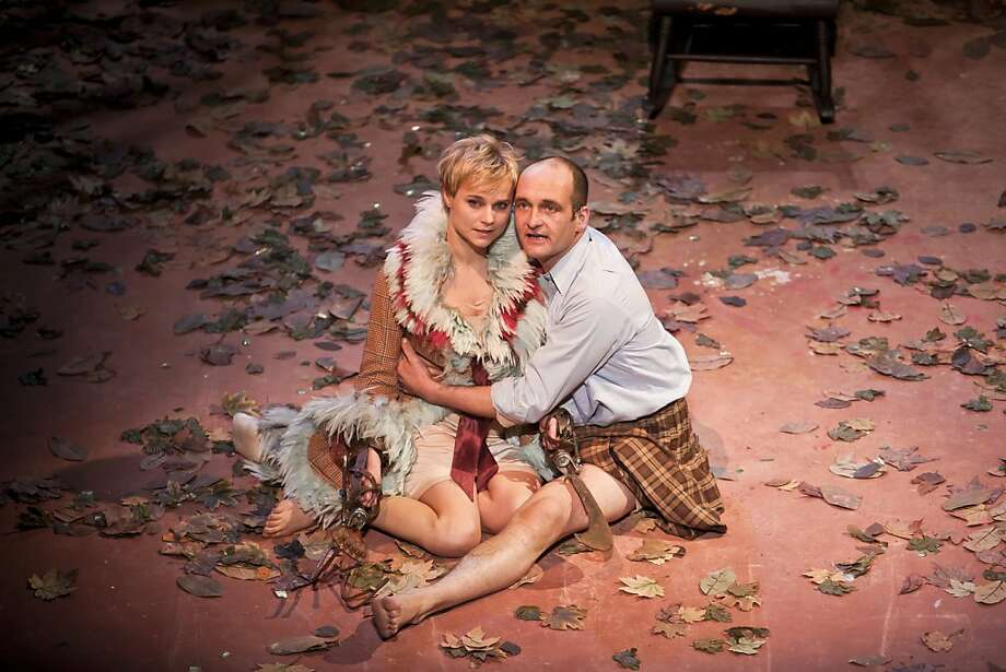 "Stuart Goodwin as The Prince and Patrycja Kujawska as The Wild in the Kneehigh Theatre Company's ""The Wild Bride"" at the Berkeley Repertory Theatre in Berkeley, Calif. on Thursday Dec. 1, 2011. Photo: Tim Maloney, The Chronicle"