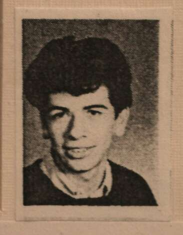 A copy of Carlos Santana's yearbook photo from his junior year is seen in the alumni museum at Mission High school in San Francisco, Calif. on Monday, October 24, 2011. Photo: Lea Suzuki, The Chronicle