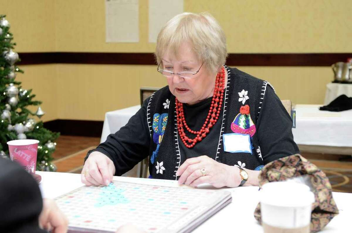 Nancy Kulinski, Stamford, participates in the three-day Northeast SCRABBLE (r) Championship at the Sheraton Hotel in downtown Stamford, CT on Sat., Dec. 10, 2011.
