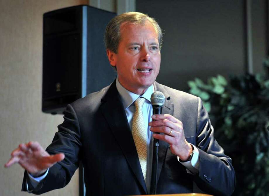 Texas Lt. Gov. David Dewhurst delivers the keynote address at the 109th  Annual Meeting of the Wichita Falls Chamber of Commerce and Industry Thursday, Dec. 1, 2011 at the Wichita Falls Country Club in Wichita Falls, Texas. (AP Photo/Wichita Falls Times Record News, Torin Halsey) Photo: Torin Halsey / Wichita Falls Times Record News