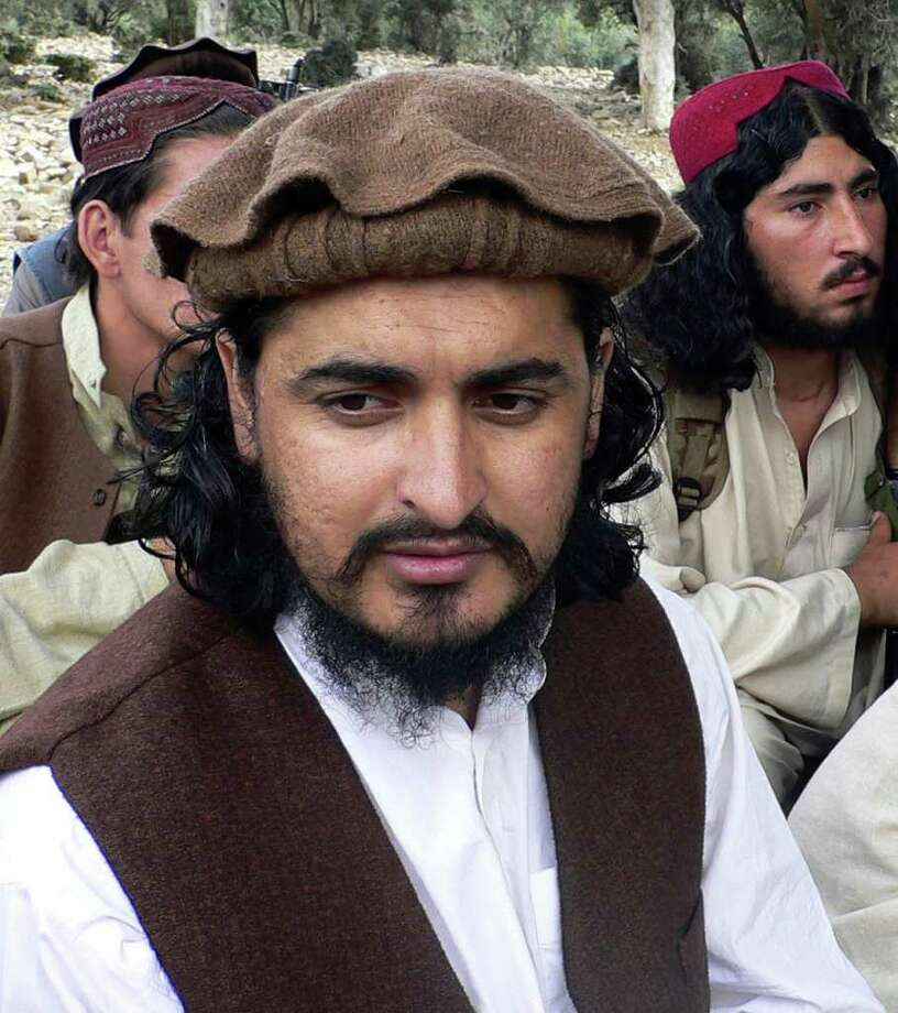 FILE - In this this Oct. 4, 2009 file photo, Pakistani Taliban chief Hakimullah Mehsud, is seen in Sararogha of the Pakistani tribal area of South Waziristan along the Afghanistan border. The toxic mix of militant groups holed up in Pakistan's tribal belt on the border with Afghanistan have splintered into more than 100 groups. They are running out of money, their command and control system is teetering on the brink of collapse and they occasionally take shots at each other. Photo: AP