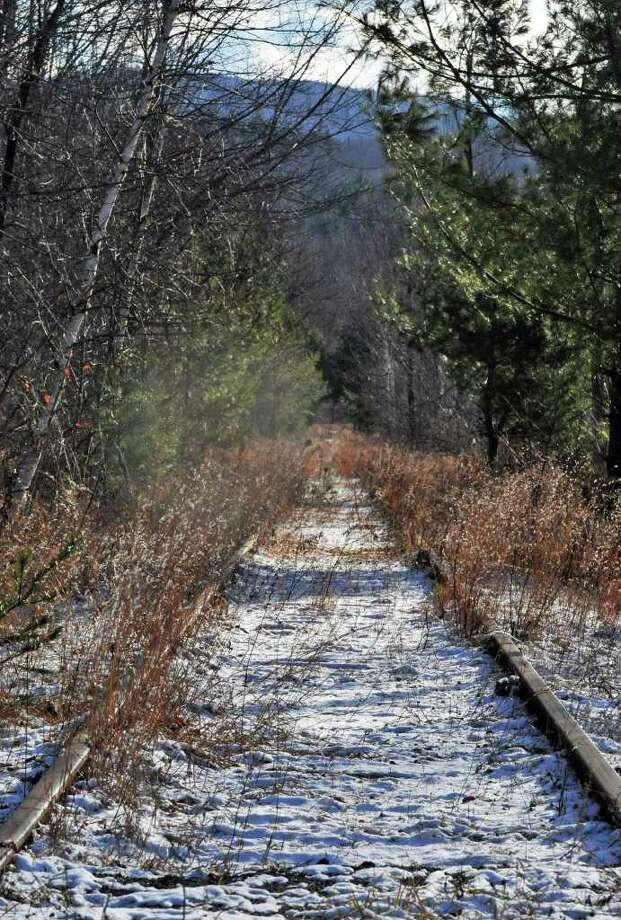 Old railroad tracks leading to the entrance of Barton International's North River plant Thursday Dec. 8, 2011.   (John Carl D'Annibale / Times Union) Photo: John Carl D'Annibale