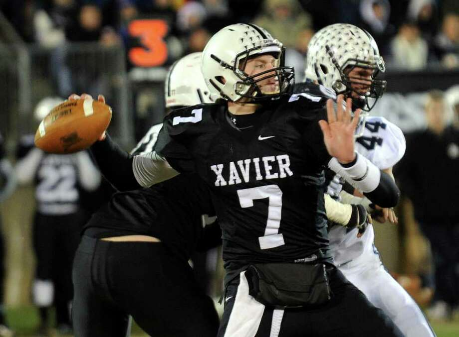 Xavier quarterback Tim Boyle switch his commitment from Boston College to UConn in the final weekend before National Signing Day. Photo: Christian Abraham / www.connpost.com