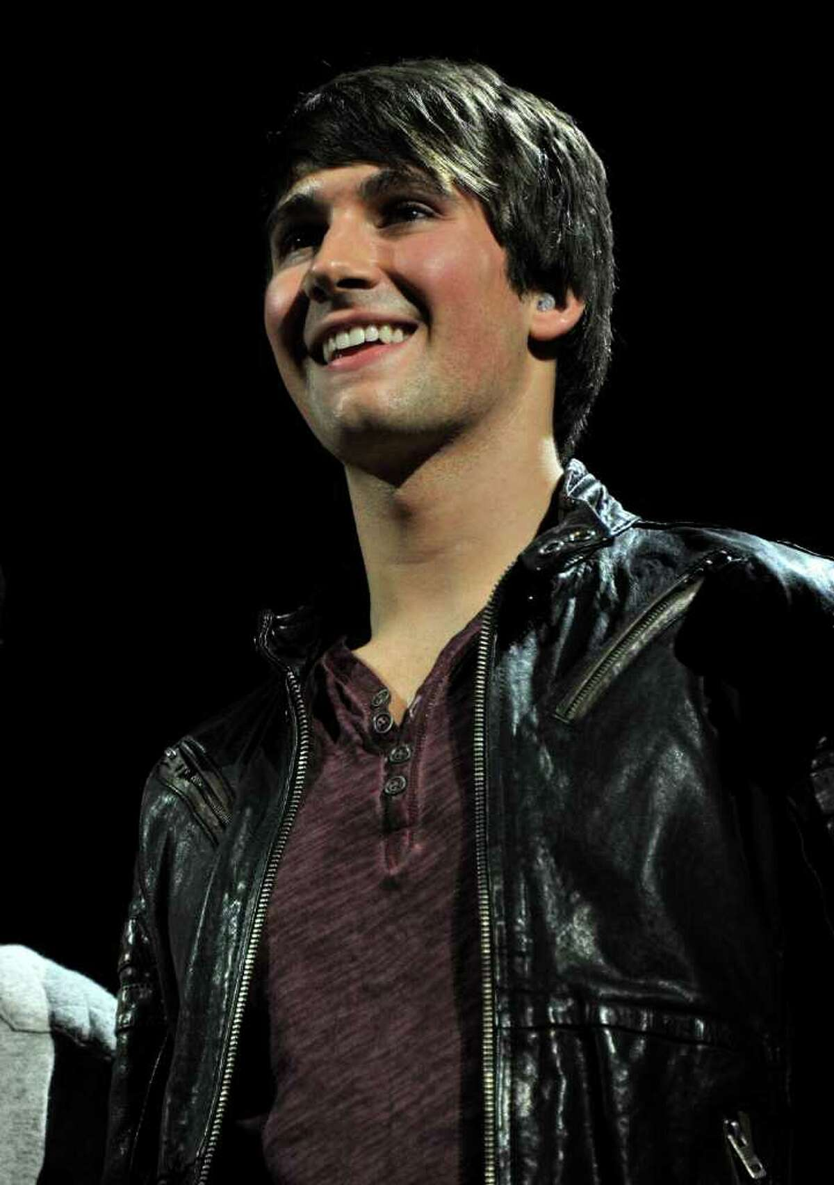 NEW YORK, NY - DECEMBER 09: James Maslow of Big Time Rush speaks onstage during Z100's Jingle Ball 2011, presented by Aeropostale at Madison Square Garden on December 9, 2011 in New York City. (Photo by Stephen Lovekin/Getty Images)