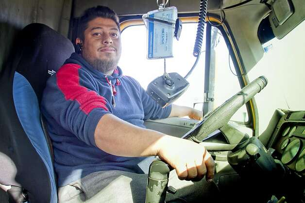 Truck driver Joe Youanny of San Mateo in his truck at the Port of Oakland in Oakland, Calif., on Friday, December 9, 2011. Story about how Occupy Oakland plans to shut down the Port of Oakland on December 12th. Photo: John Storey, Special To The Chronicle