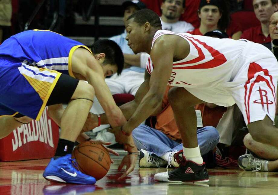 Jeremy Lin, left, averaged 2.6 points on 38.9 percent shooting in 29 games as a rookie last season. Photo: Brett Coomer, Chronicle / Houston Chronicle