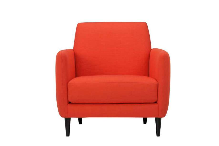 Crate & Barrel's Parlour Chair fits the Pantone Color Institute's reddish-orange pick for top color of 2012. Photo: CRATE & BARREL, ASSOCIATED PRESS / Crate and Barrel