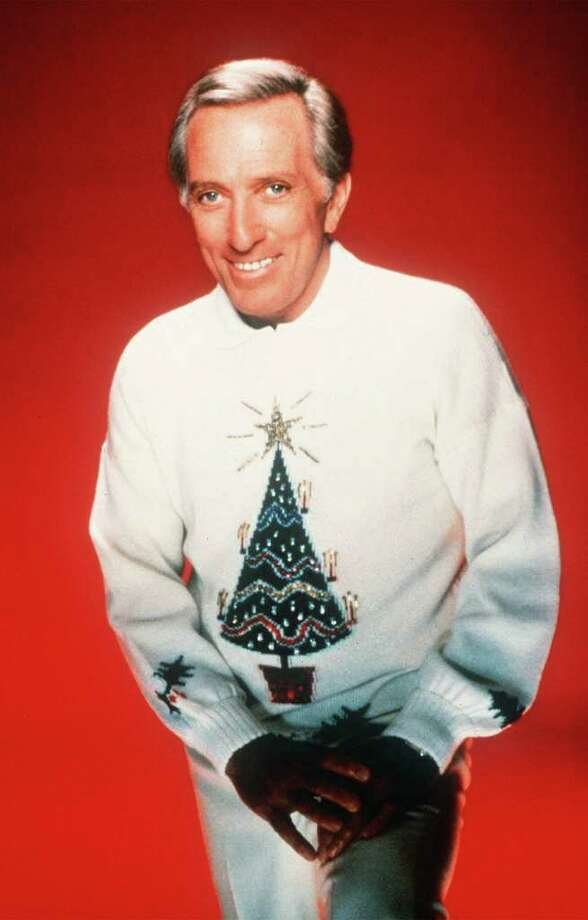 ASSOCIATED PRESS CLASSIC STYLE: Singer Andy Williams, TV show host in the 1960s and early '70s,  knew how to rock a Christmas sweater. / AP