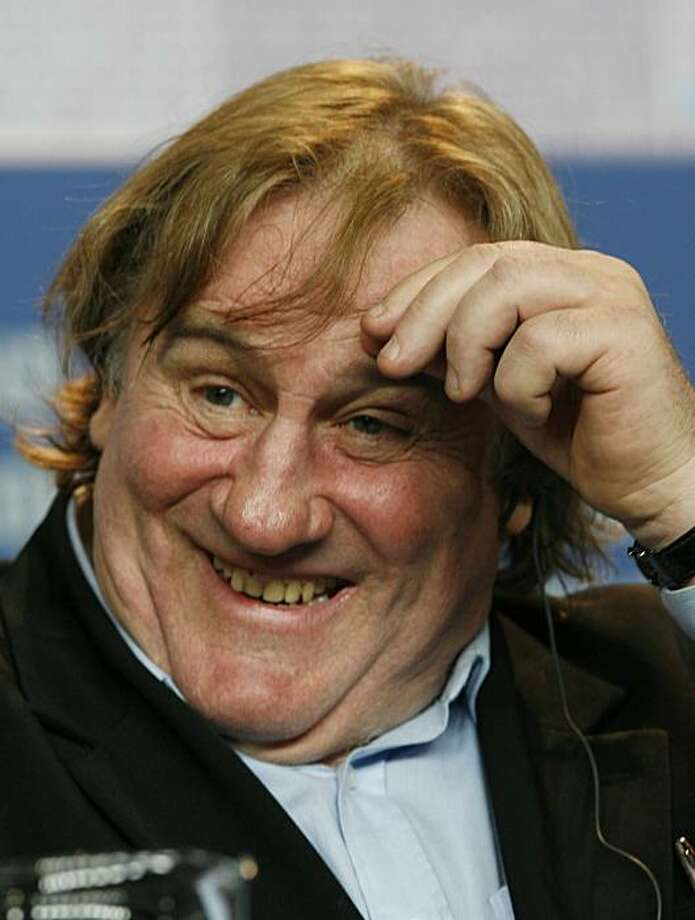 "French actor Gerard Depardieu reacts during a news conference to the competition film ""Mammuth"" at the 60th International Film Festival Berlinale in Berlin, Germany, on Friday, Feb. 19, 2010. (AP  Photo/dapd/Hermann J. Knippertz) Photo: Hermann J. Knippertz, AP"