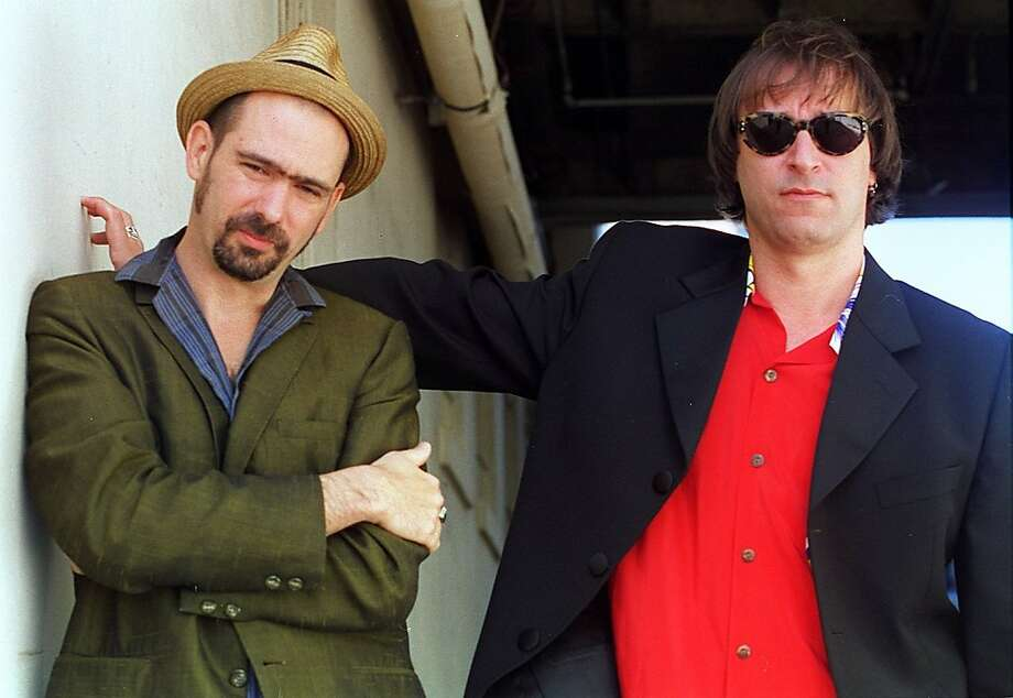 EITZEL 3/C/10MAR97/PK/LH--Moody singer Mark Eitzel (left) has paired up with REM guitarist Peter Buck (right) for his second solo LP.  Liz Hafalia  Ran on: 08-08-2004 Carlos Santana: honored. Photo: Liz Hafalia, STAFF