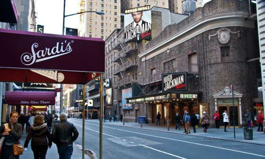 The famous restaurant Sardi's is directly across from the Broadhurst Theater, home to Hugh Jackman's Back on Broadway show until Jan. 1. Photo by Joshua Trudell//Special to the Express-News