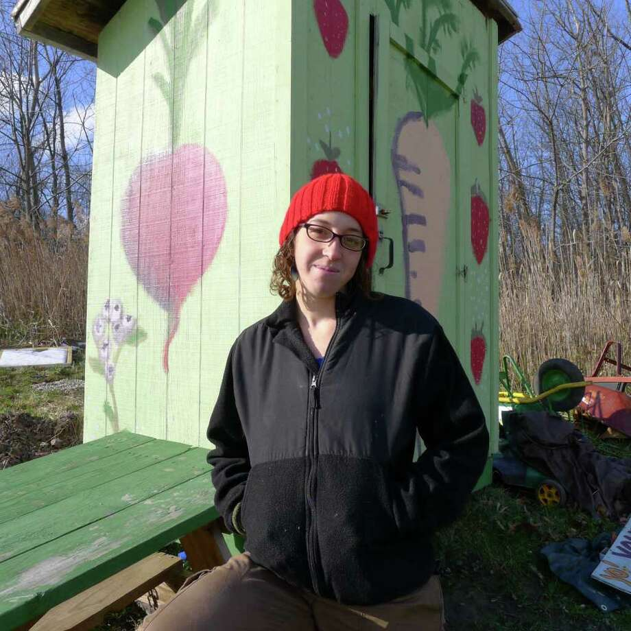 Rana Morris at the community garden at Third Ave and Hawk Street in Albany, NY Saturday, Dec.10, 2011.( Michael P. Farrell/Times Union) Photo: Michael P. Farrell / 00015730A