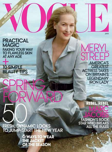 VOGUE SCREEN LEGEND: At 62, Meryl Streep likely is the oldest star to grace the cover of the fashion magazine, which goes back more than 80 years. / Vogue
