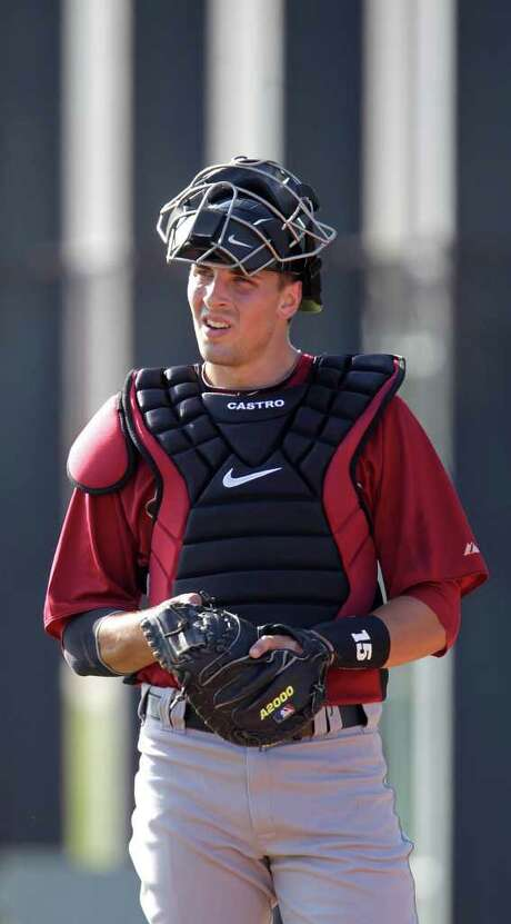 KAREN WARREN: CHRONICLE DUE DATE: Jason Castro should return to action in the middle of spring training. Photo: Karen Warren / Houston Chronicle