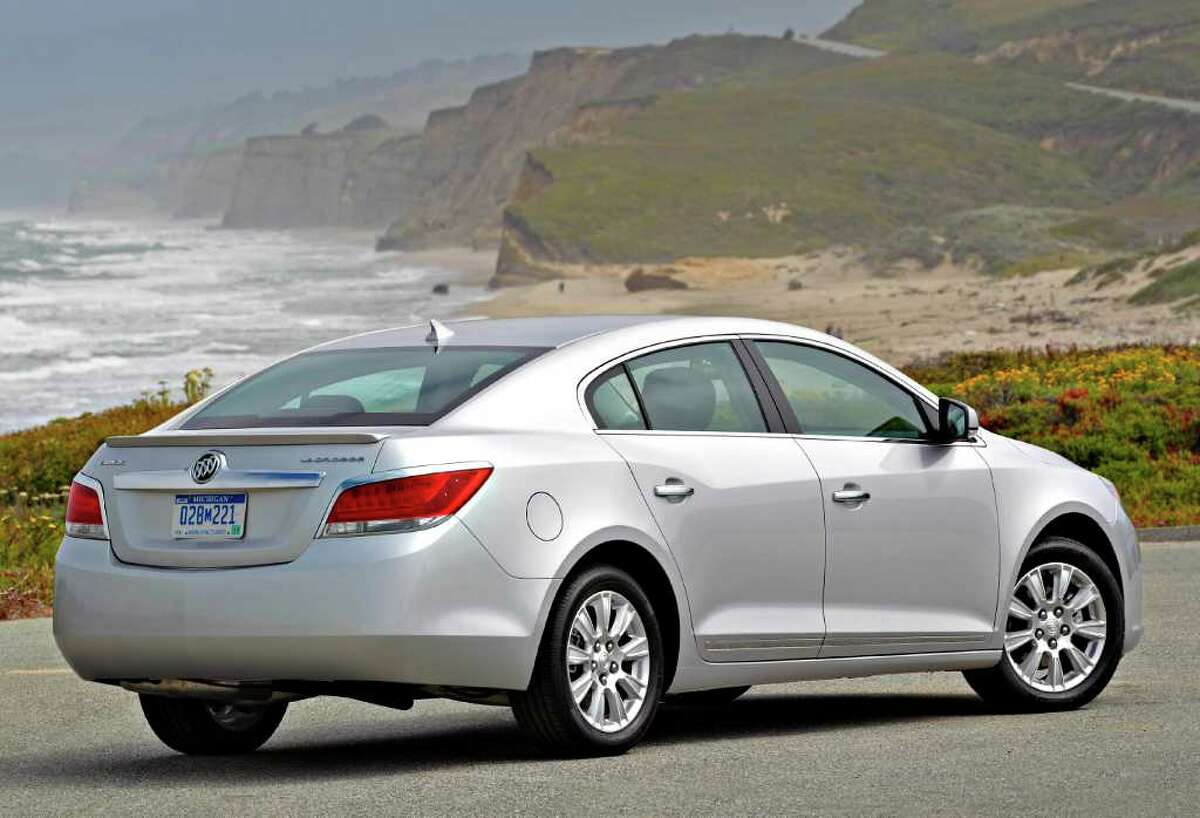 The 2012 Buick LaCrosse sedan with eAssist has a 15-horsepower electric motor designed to give power boosts to aid the 2.4-liter four-cylinder engine. COURTESY OF GENERAL MOTORS CO.