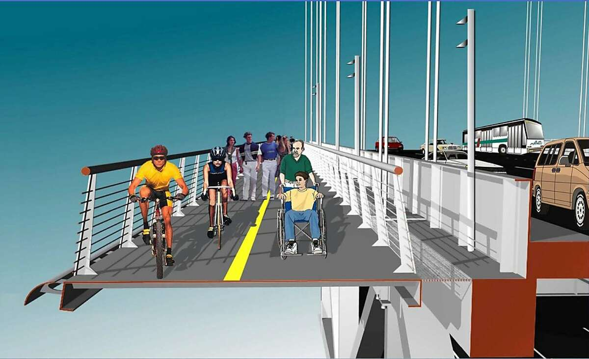 Transportation officials are studying the possibility of a bike/pedestrian path on the west span of the Bay Bridge. The lanes would be clipped on to the north and south sides of the suspension plan. Ran on: 12-13-2011 An artists rendering shows the concept for a bike and pedestrian path on the west span of the Bay Bridge. Ran on: 12-13-2011 Photo caption Dummy text goes here. Dummy text goes here. Dummy text goes here. Dummy text goes here. Dummy text goes here. Dummy text goes here. Dummy text goes here. Dummy text goes here.###Photo: bike13_PH10###Live Caption:Transportation officials are studying the possibility of a bike-pedestrian path on the west span of the Bay Bridge. The lanes would be clipped on to the north and south sides of the suspension plan.###Caption History:Transportation officials are studying the possibility of a bike-pedestrian path on the west span of the Bay Bridge. The lanes would be clipped on to the north and south sides of the suspension plan.###Notes:Original byline: rmleczko-###Special Instructions: Ran on: 12-13-2011 Photo caption Dummy text goes here. Dummy text goes here. Dummy text goes here. Dummy text goes here. Dummy text goes here. Dummy text goes here. Dummy text goes here. Dummy text goes here.###Photo: bike13_PH10###Live Caption:Transportation officials are studying the possibility of a bike-pedestrian path on the west span of the Bay Bridge. The lanes would be clipped on to the north and south sides of the suspension plan.###Caption History:Transportation officials are studying the possibility of a bike-pedestrian path on the west span of the Bay...