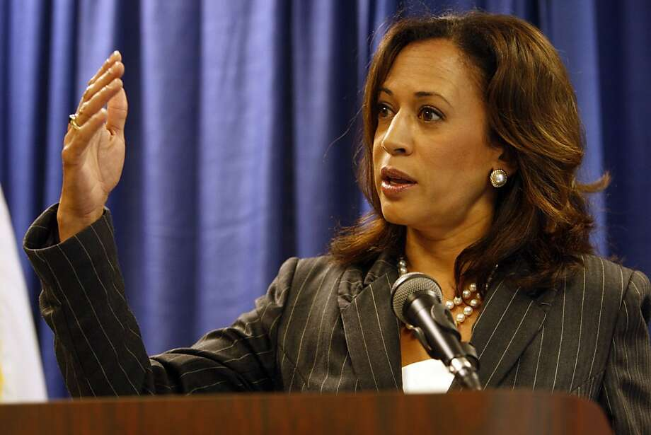 Attorney General Kamala Harris held a press conference to announce an enforcement action related to a wide-ranging mortgage fraud on Thursday, August 18, 2011 at the State Building in San Francisco, Calif. Photo: Maddie McGarvey, The Chronicle