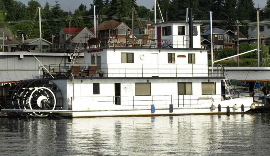 "Kevin and Linda Bagley live on ""The Kevlin,"" a 72-foot-long paddlewheeler on Lake Union. They're concerned about proposed shoreline rules that could change how the city regulates their home. Photo: Kevin Bagley."