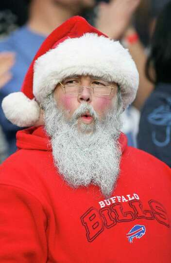 A Santa Claus looks on during the Buffalo Bills against the San Diego Chargers NFL Game on December