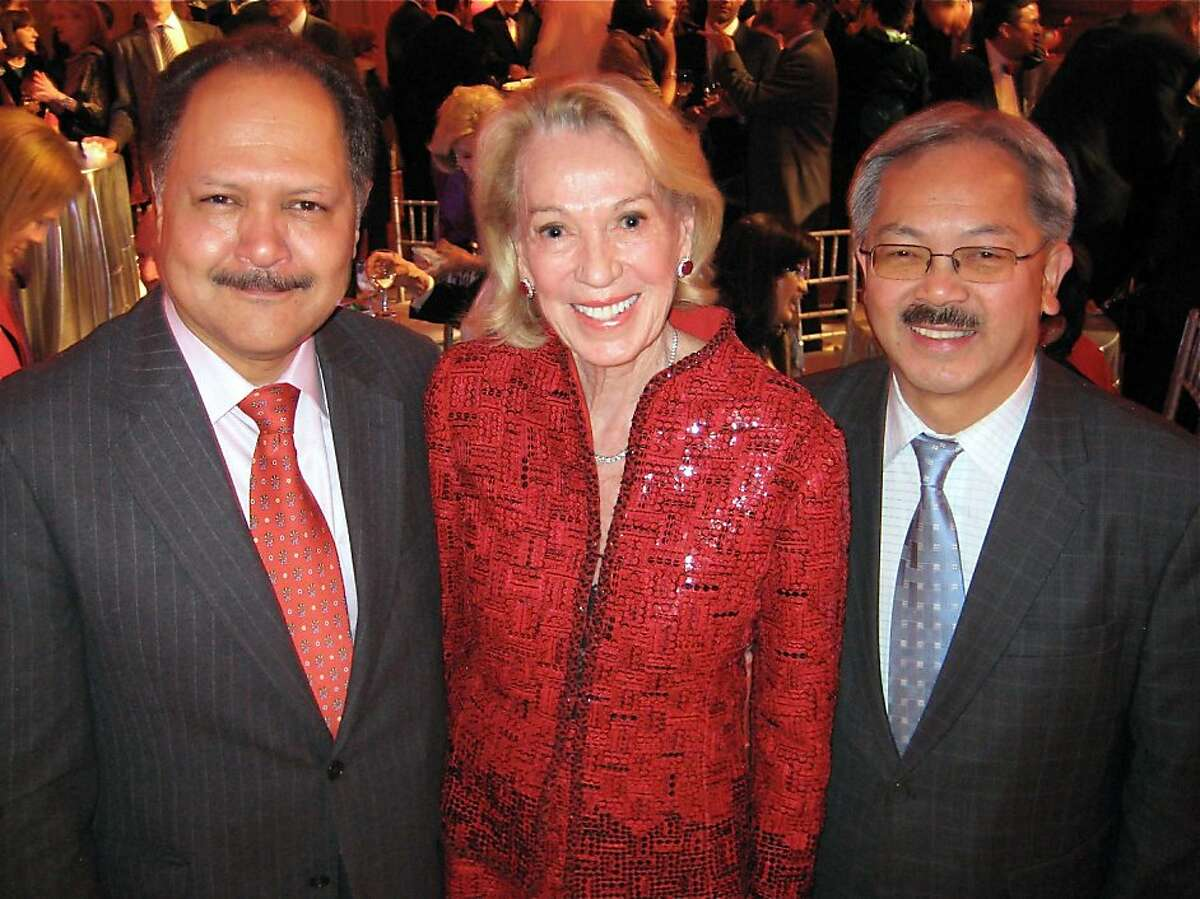 Mexican Consul General Carlos Felix (left) with Protocol Chief Charlotte Shultz and Mayor Ed Lee at the SF Consular Corps holiday party in City Hall. Dec. 2011. By Catherine Bigelow.