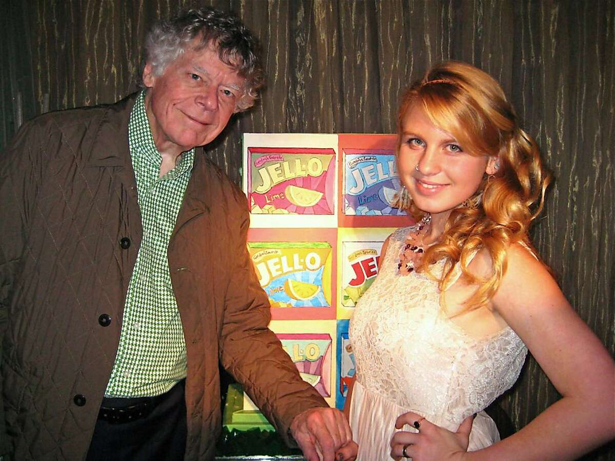 Composer Gordon Getty and his granddaughter, Ivy Getty, celebrate their Dec. 20th birthdays. Dec. 2011. By Catherine Bigelow