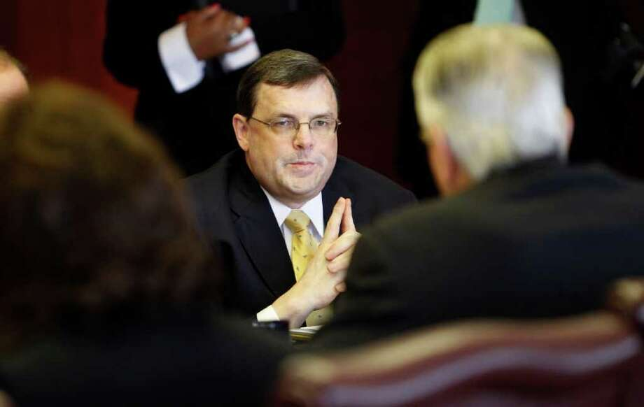 KAREN WARREN: CHRONICLE CLEAN RECORD: Port Authority CEO Alex Dreyer said the political nature of the job led to his decision to resign. He said he will serve in his position until a new CEO is named. Photo: Karen Warren / © 2011 Houston Chronicle