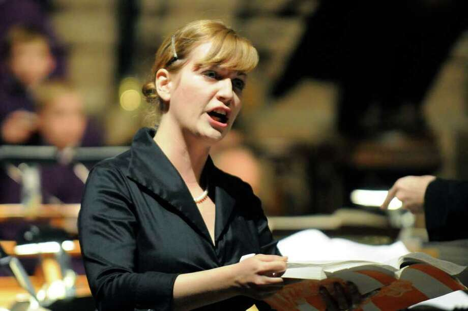 Mezzo soprano Brenda Patterson performs with The Cathedral Choir of Men and Boys during a presentation of Handel's Messian under the direction of Woodrow Bynum at The Cathedral of All Saints in Albany, NY Tuesday, Dec.13, 2011.( Michael P. Farrell/Times Union) Photo: Michael P. Farrell