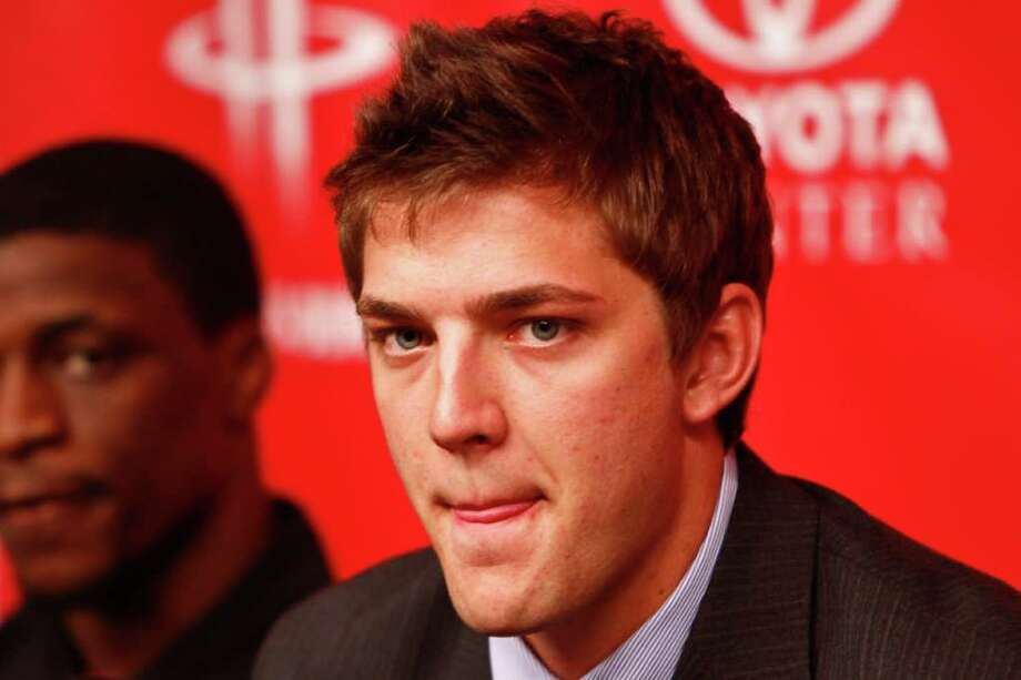 Houston Rocket's 2011 NBA Draft picks, Chandler Parsons speaks to the media during a press conference at the Toyota Center, Friday, June 24, 2011, in Houston. ( Michael Paulsen / Houston Chronicle ) Photo: Michael Paulsen / © 2011 Houston Chronicle