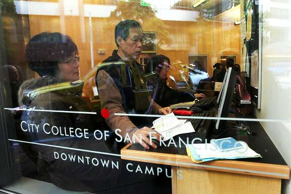 The front office of San Francisco's City College conducted business as normal even after California Governor Jerry Brown announced that the state needs to make about $1 billion in midyear cuts to schools and social services, after the state's revenues fell about $2.2 billion below previous estimates Tuesday December 13, 2011