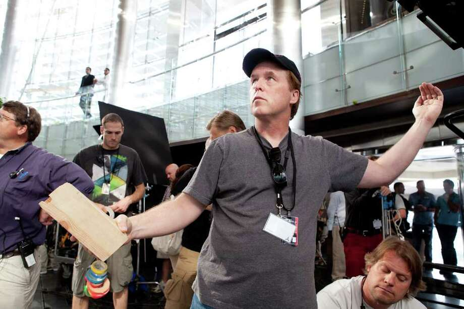 Director Brad Bird on the set of MISSION: IMPOSSIBLE ? GHOST PROTOCOL, from Paramount Pictures and Skydance Productions. Photo: Photo Credit: David James