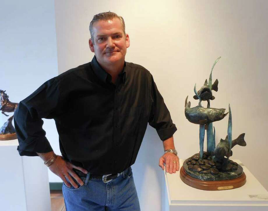 San Antonio artist William Carrington took up bronze wildlife sculpting just two years ago. He's showing recent work at Parchman Stremmel Gallery. Photo: STEVE BENNETT, STAFF