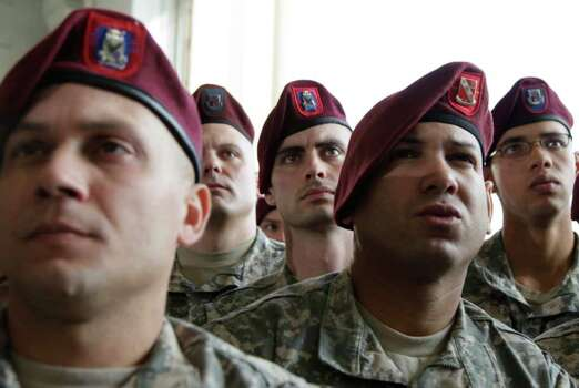 Members of the military watch as President Barack Obama spoke to troops at Fort Bragg, N.C., on Wednesday. Photo: AP
