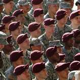 Troops listen as President Barack Obama speaks during a visit to Fort Bragg, N.C., on Wednesday.