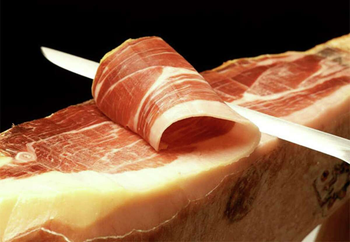 """""""You can't cut Spanish ham too thin,"""" said Guy Spriggs of Hamlovers.com. """"The ham knife is very much like a salmon filleting knife. It takes a little practice. It becomes a hobby. It's like tasting wine."""""""
