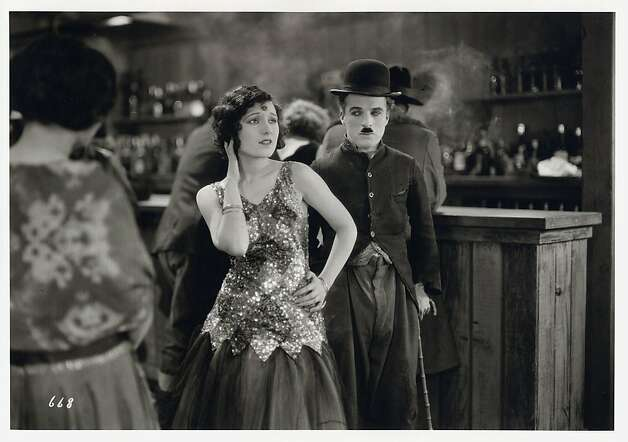 "Charlie Chaplin and Georgia Hale in a scene from his 1925 film ""The Gold Rush.""   Ran on: 04-15-2010 Charlie Chaplin's 1925 classic silent film &quo;The Gold Rush.&quo; Photo: Courtesy, SF Symphony"