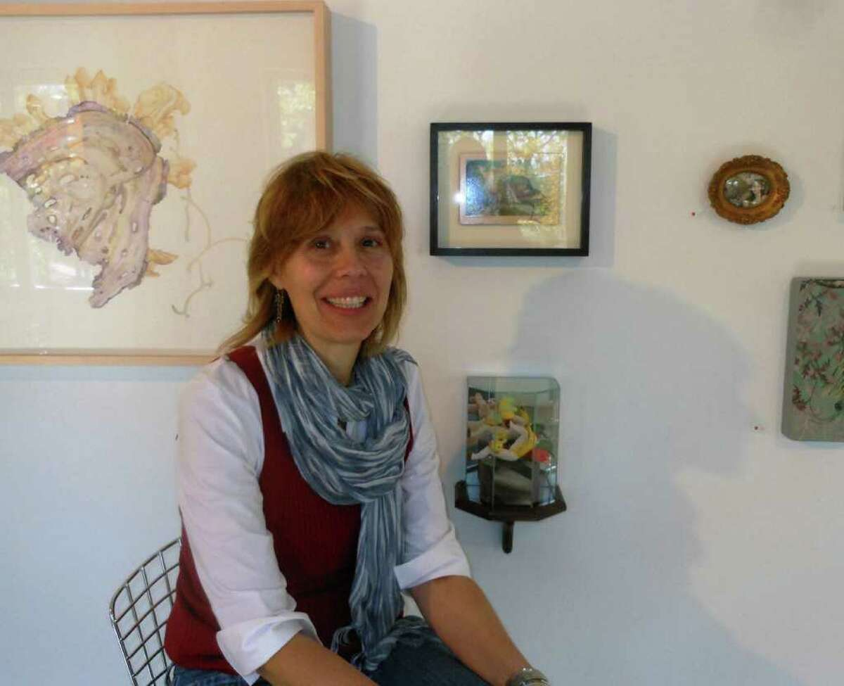 San Antonio artist Jayne Lawrence is showing new drawings and sculptural works at David Shelton Gallery.