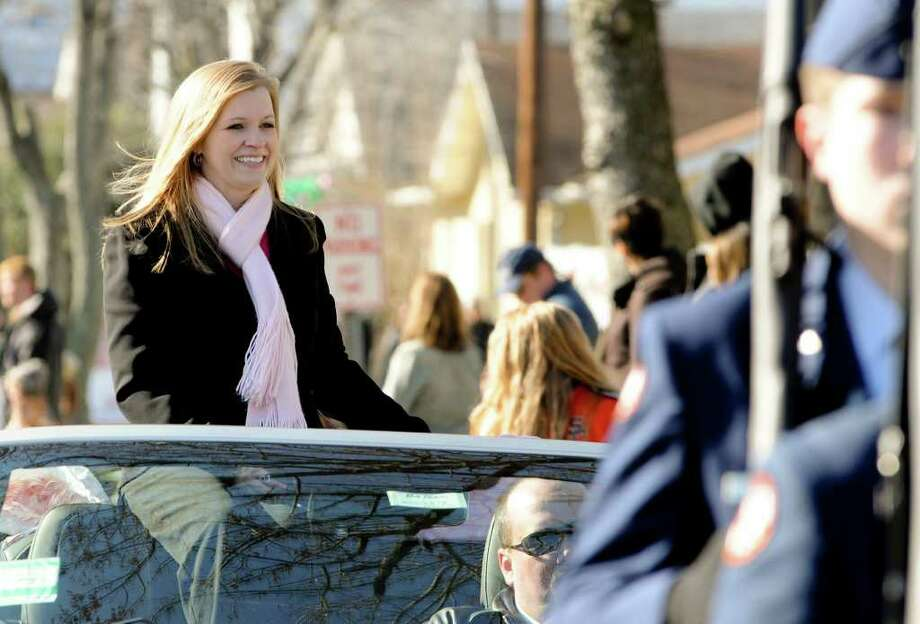 Jessica Lynch, who shot to fame as a POW during the Iraq war in 2003, is featured in the South Charleston, W.Va. Christmas Parade Saturday, Dec. 10, 2011. Photo: AP