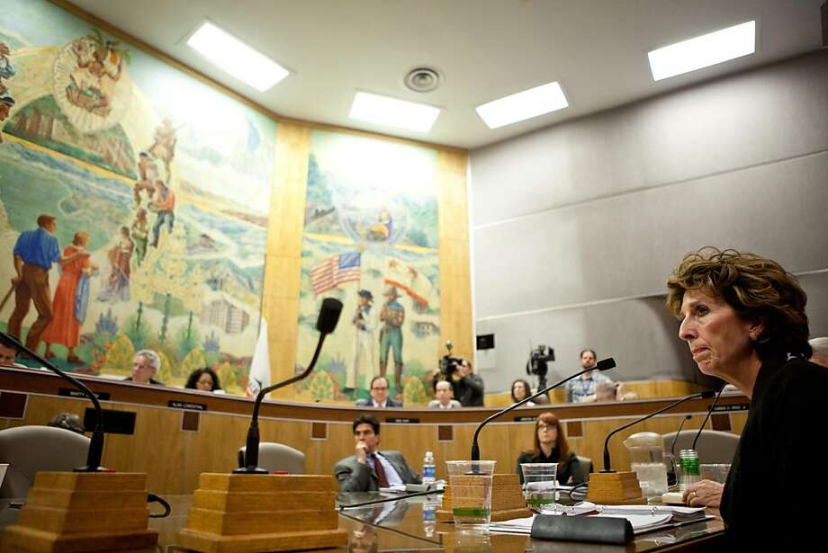 University of California, Davis chancellor Linda Katehi testifies in front of a Joint Informational Hearing on the UC Davis pepper spray incident at the State Capitol in Sacramento, CA, December 14, 2011. Photo: Max Whittaker, Special To The Chronicle