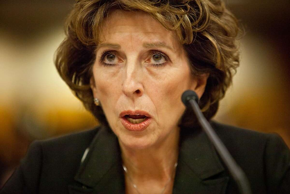 University of California, Davis chancellor Linda Katehi testifies in front of a Joint Informational Hearing on the UC Davis pepper spray incident at the State Capitol in Sacramento, CA, December 14, 2011.