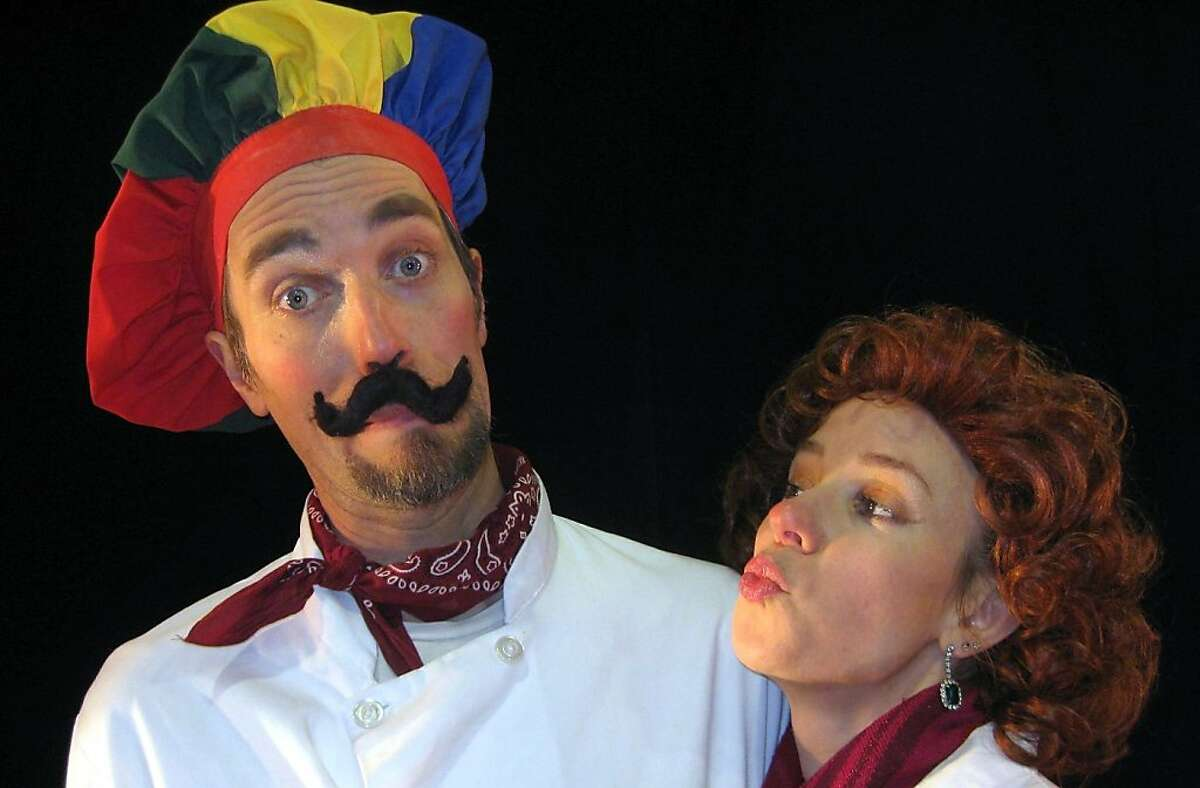 Clown duo Natasha Kaluza and Jamie Coventry aka Coventry and Kaluza, in Sweet Can Productions' Mittens and Mistletoe