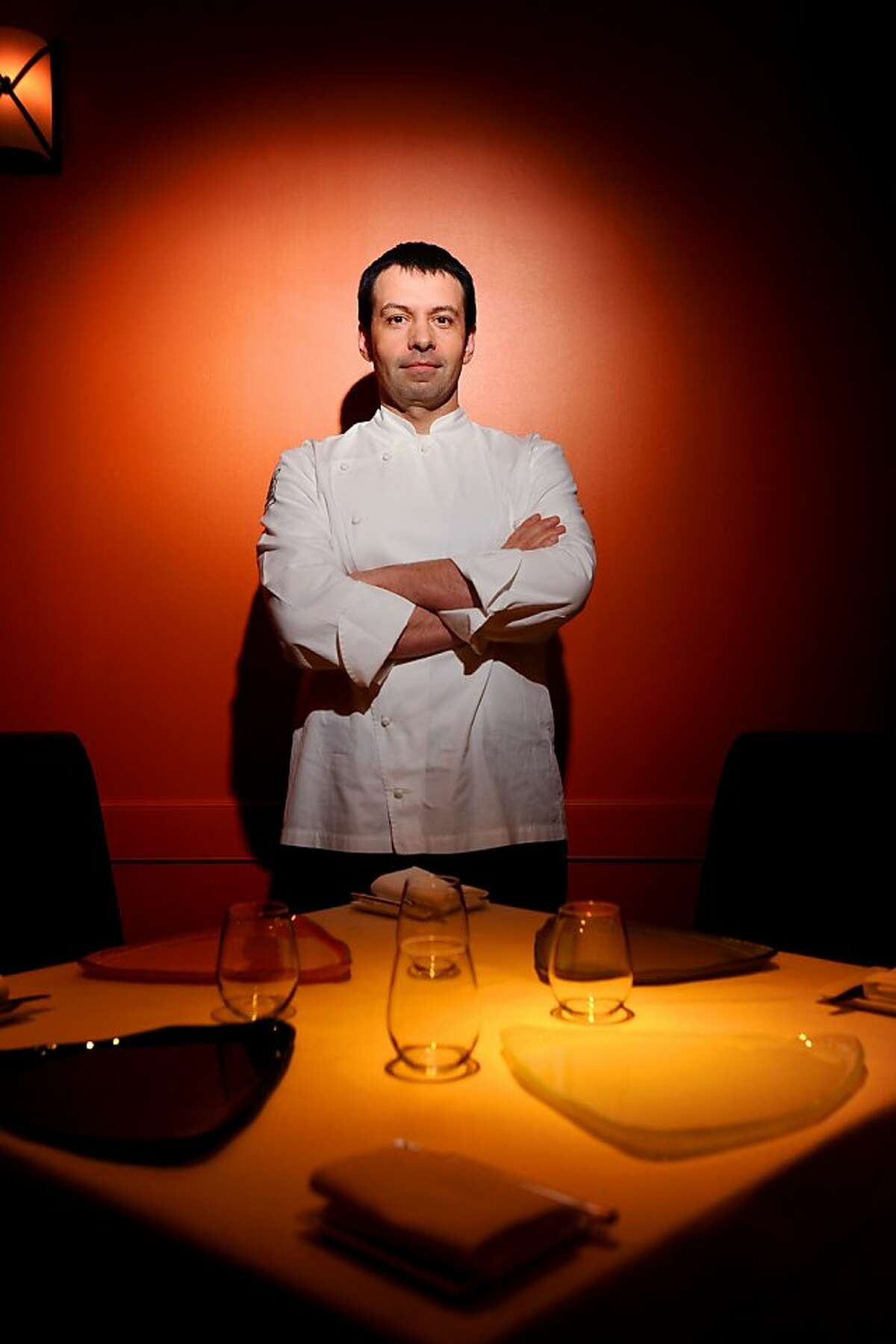 Chef Bruno Chemel poses at Baume on Thursday, April 15, 2010, in Palo Alto, Calif.