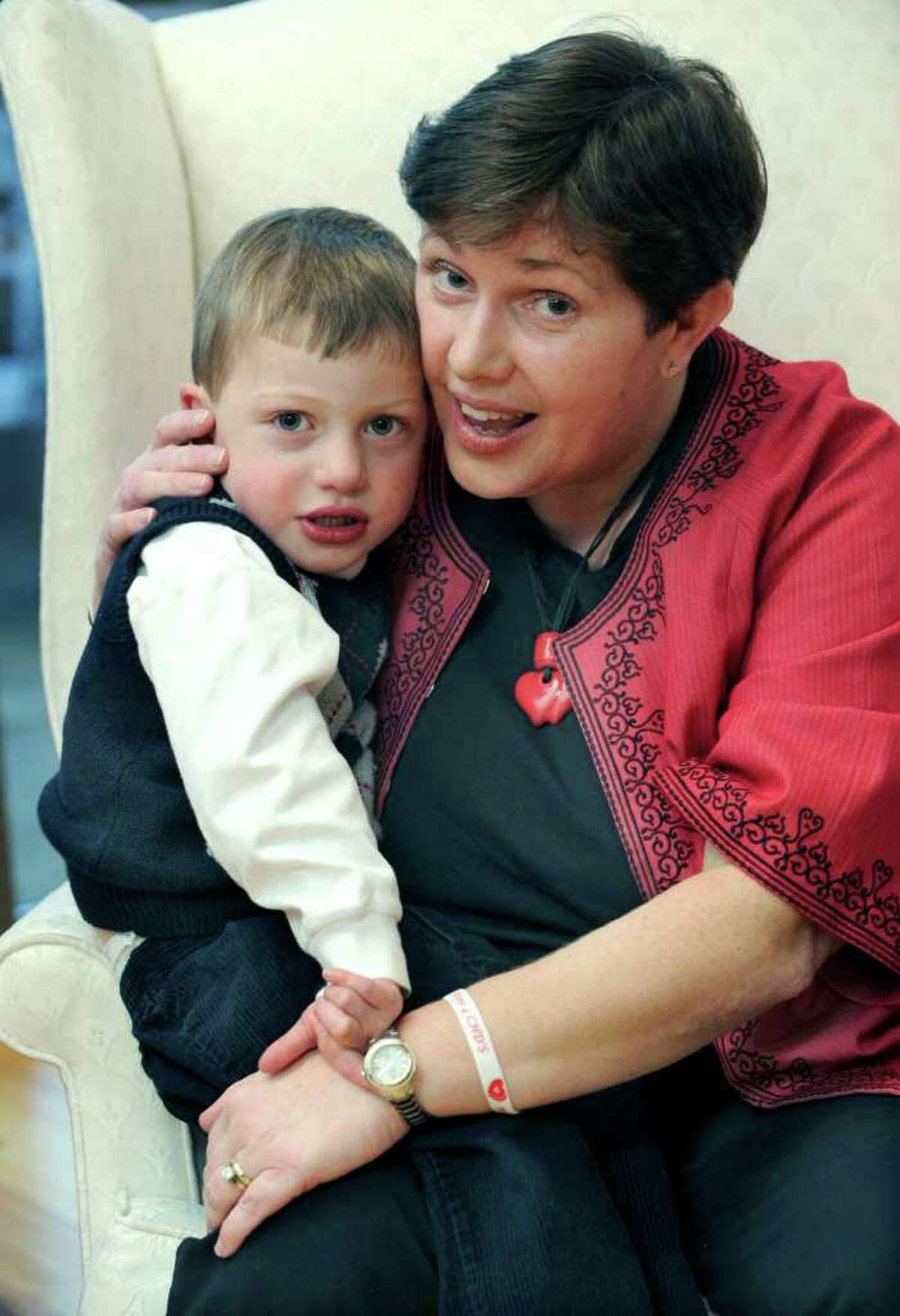Marie Hatcher is photographed with son Matthew, 3, who sufferes from congenital heart disease. Photo taken Wednesday, Dec. 14, 2011.