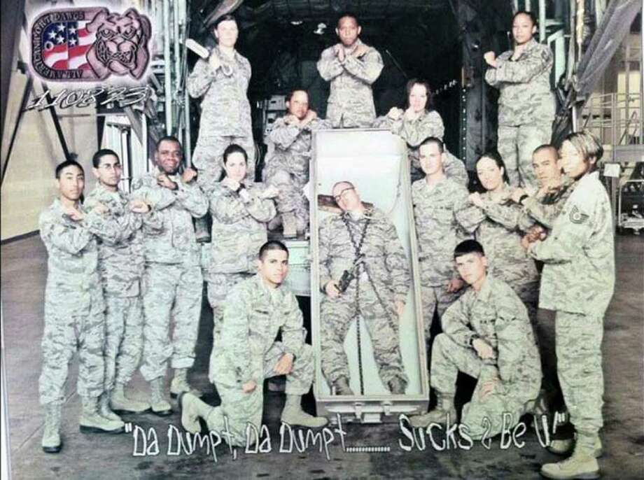 This photo, posted on Facebook and dated Aug. 23, shows a group of airmen at Fort. Lee, Va.     ARMY TIMES/FACEBOOK