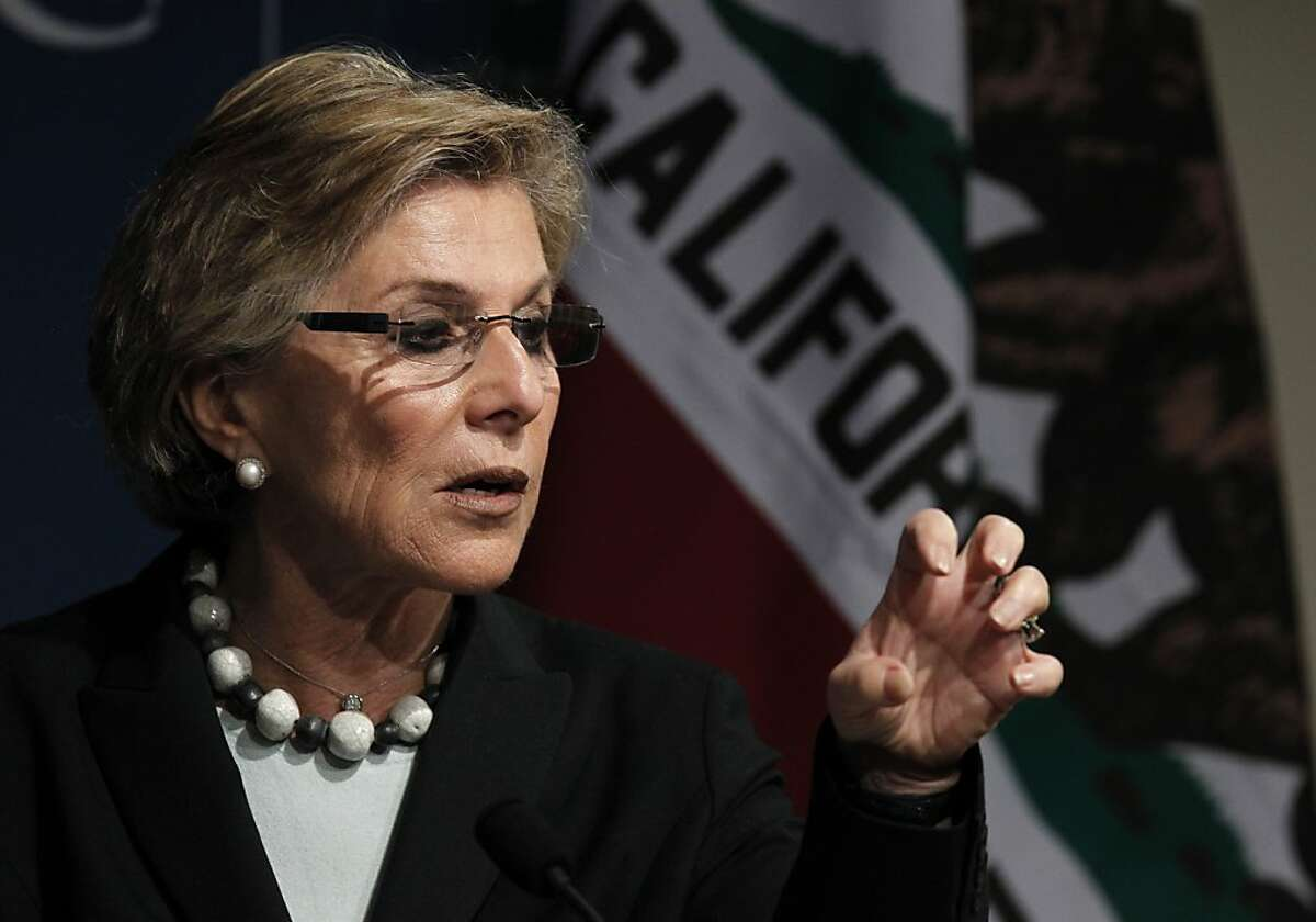 Barbara Boxer appears at a meeting of the World Affairs Council in San Francisco, Calif. on Friday, June 17, 2011. The U.S. Senator outlined her goals for troop withdrawals from Afghanistan and answered wide-ranging questions on foreign and domestic policies.