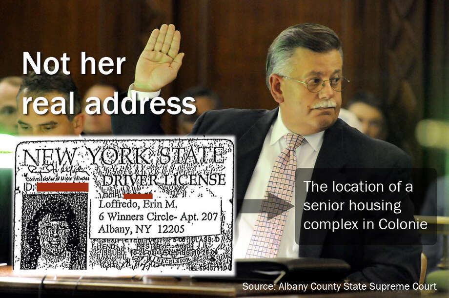 "Erin Loffredo, the former Stop-DWI victims' coordinator, used three fictitious addresses to meet an Albany County residency requirement. Her driver's license was altered to show an address for ""6 Winners Circle,"" which is the location of a senior housing complex in Colonie. Loffredo alleges her former supervisor, Leonard J. Crouch, pictured here, and then-Sheriff James L. Campbell sanctioned her use of phony addresses. (Yi-Ke Peng / Times Union)"