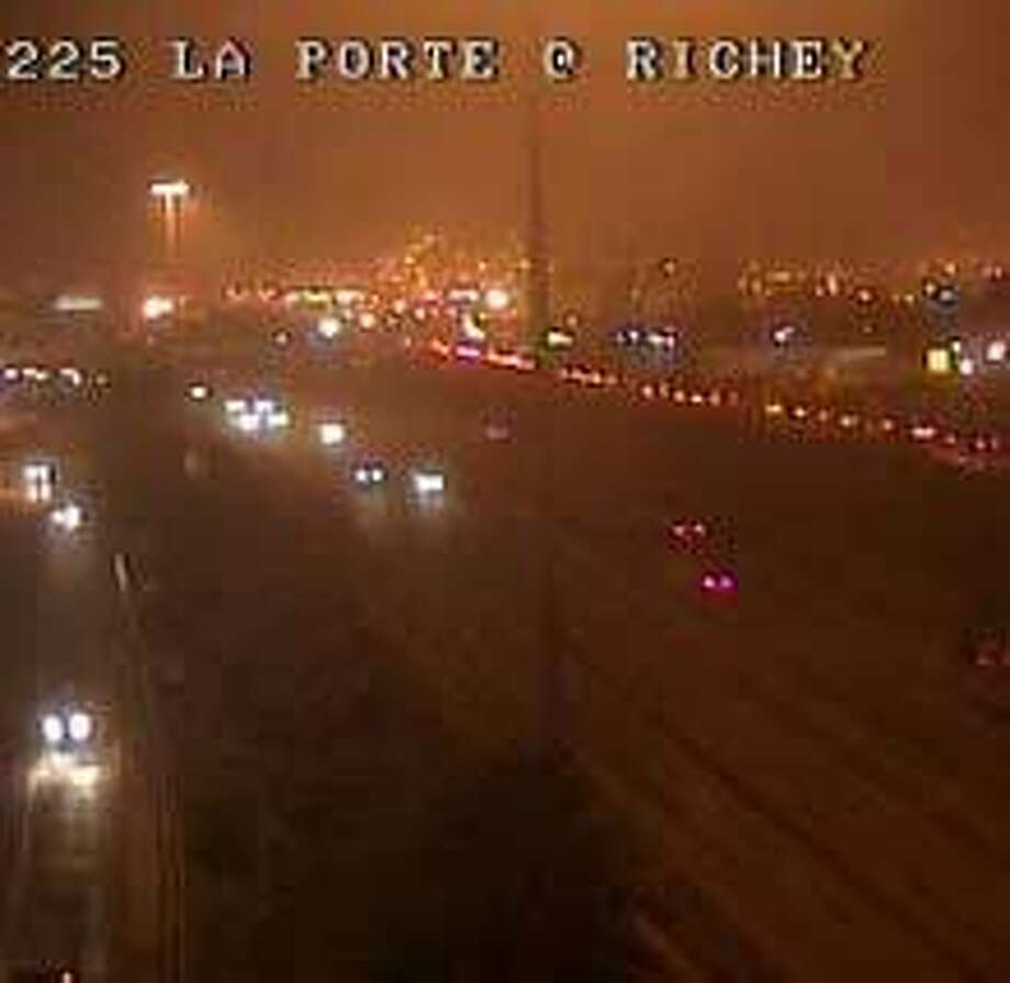 Foggy conditions were spotted around the Houston area this morning. (Houston Transtar)